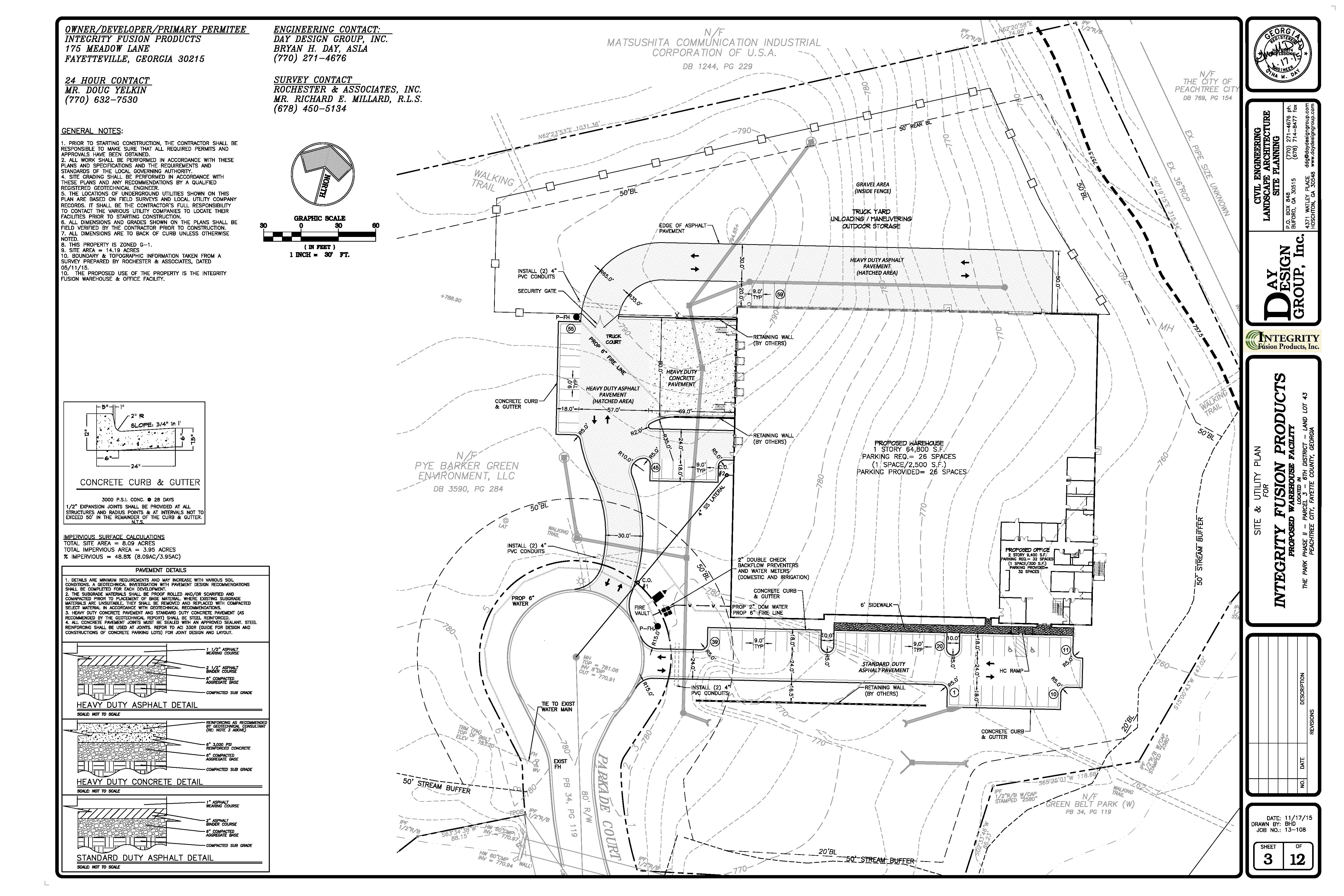 Day Design GroupProjects – Site Grading Plan